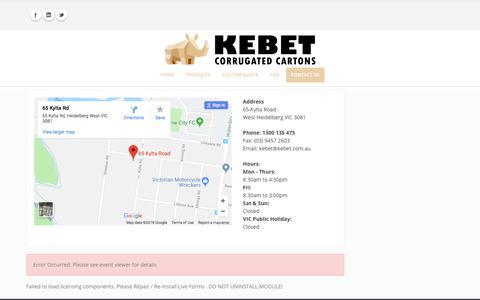Kebet > Contact Us