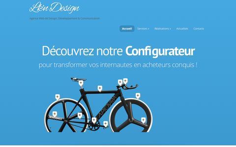Screenshot of Home Page lkn-design.com - Lk'n Design | Agence Web de Design, Développement & Communication - captured May 12, 2017