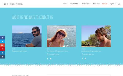 Screenshot of Contact Page arokaria.gr - Contact - Arokaria | Accommodation in Paros - captured Oct. 8, 2017