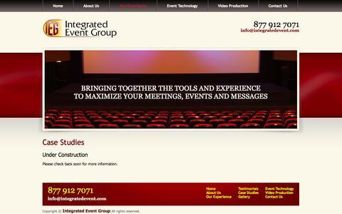 Screenshot of Case Studies Page integratedevent.com - Event Management - Newark, DE   Integrated Event Group - captured Oct. 6, 2014