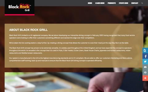 Screenshot of About Page blackrockgrill.com - About Us - Black Rock Grill   Black Rock Grill - captured Oct. 29, 2014