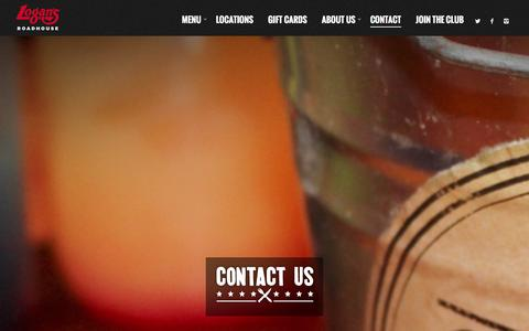 Screenshot of Contact Page logansroadhouse.com - Contact - Logans Roadhouse - captured Dec. 12, 2015