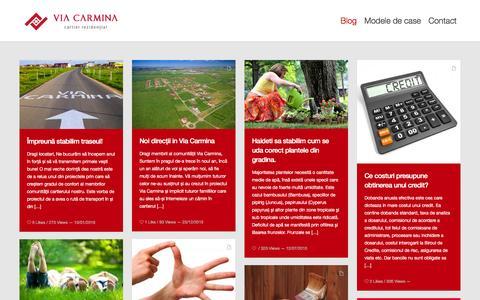 Screenshot of Blog viacarmina.ro - Casa cu gradina de vanzare in cartierul rezidential premium Via Carmina Arad - captured Feb. 23, 2016