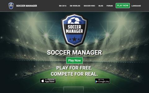 Screenshot of Home Page soccermanager.com - Free online soccer manager game - Soccer Manager - captured Nov. 11, 2015