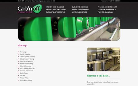 Screenshot of Site Map Page carbn-off.co.uk - Carb'n Off   sitemap - captured Oct. 22, 2014
