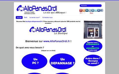 Screenshot of Home Page allopanasordi.fr - AlloPanasOrdi - Accueil - captured July 25, 2016