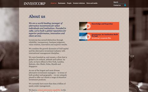 Screenshot of About Page investcorp.com - About us   Investcorp - captured Sept. 20, 2018