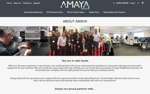 Screenshot of About Page amayauk.com - About Amaya - captured Oct. 3, 2018