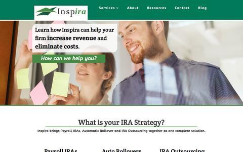 Screenshot of Home Page inspirafs.com - Home - captured May 25, 2016