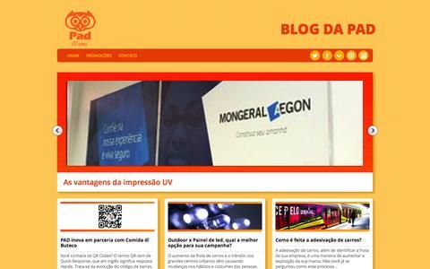 Screenshot of Blog pad.com.br - Blog - Pad Comunicação: Novidades em comunicação visual e mídia exterior - captured Sept. 26, 2014