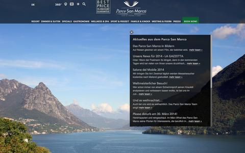 Screenshot of Press Page parco-san-marco.com - - Hotel Parco San Marco | Italien - captured Oct. 1, 2014