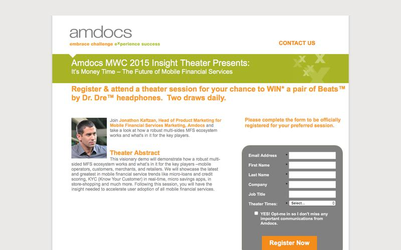 Amdocs MWC 2015 Insight Theater Presents: It's Money Time – The Future of Mobile Financial Services