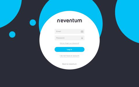 Screenshot of Login Page neventum.com - Log in - captured Oct. 15, 2018