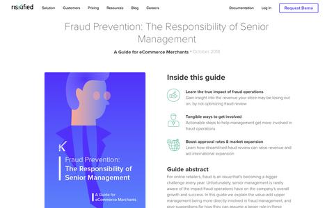 Screenshot of Team Page riskified.com - Fraud Prevention Guide for Senior Management | Riskified - captured Feb. 20, 2020