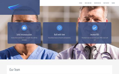 Screenshot of Team Page healthcarefacilitysolutions.com - Our Team – Health Care Facility Solutions - captured Oct. 5, 2016