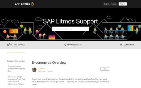 Screenshot of Support Page litmos.com - E-commerce Overview – Litmos Help - captured Oct. 22, 2019