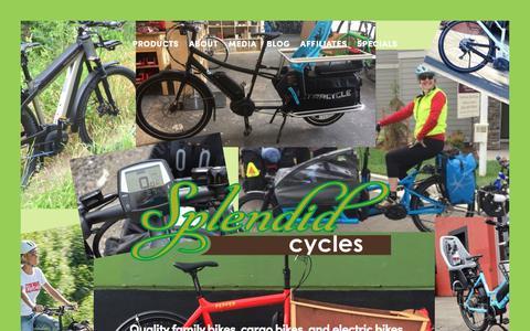 Screenshot of Home Page splendidcycles.com - Splendid Cycles - captured Sept. 21, 2018