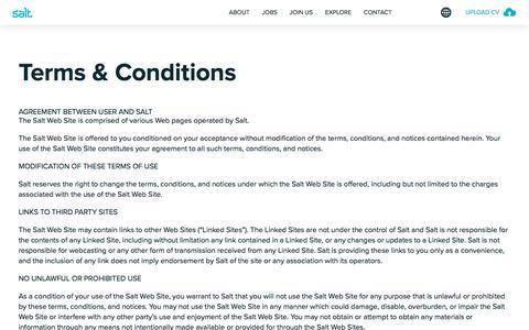 Screenshot of Terms Page welovesalt.com - Terms & Conditions   We Love Salt - Asia - captured Sept. 23, 2018