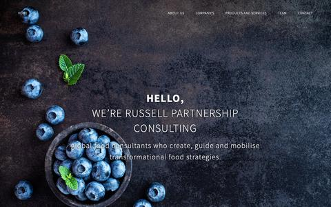Screenshot of Services Page russellpartnership.com - Restaurant Consulting - Russell Partnership Consulting - captured Nov. 19, 2018
