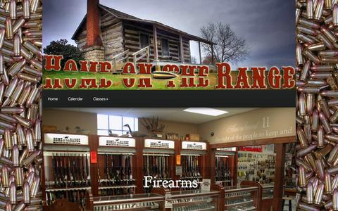 Screenshot of Home Page homeontherangefirearms.com - Home on the Range Firearms | Firearms, ammunition and more! - captured Oct. 3, 2014