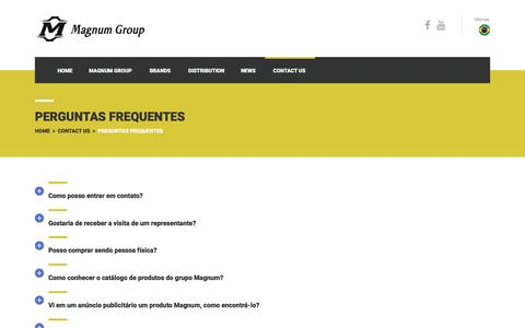Screenshot of FAQ Page magnumgroupglobal.com - Perguntas Frequentes - Magnum Group Global - captured June 27, 2016