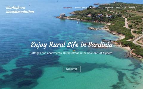 Screenshot of Home Page blualghero.com - Rural Retreat in Alghero | bluAlghero accommodation - captured Nov. 13, 2018