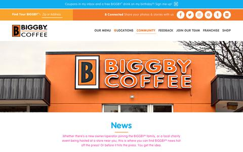 Screenshot of Press Page biggby.com - BIGGBY® COFFEE News- Find out what's been going on in BIGGBY® Nation - captured Oct. 9, 2017