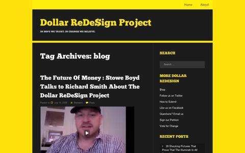 Screenshot of Blog wordpress.com - blog | Dollar ReDe$ign Project - captured Sept. 12, 2014