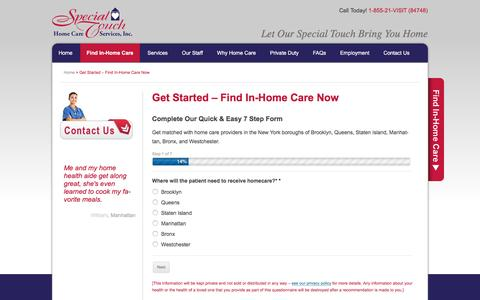 Screenshot of Maps & Directions Page specialtouchhomecare.com - Get Started - Find In-Home Care Now - captured Feb. 15, 2016