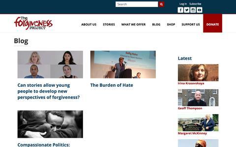 Screenshot of Blog theforgivenessproject.com - The Forgiveness Project   Blog   Blog - captured Nov. 20, 2018
