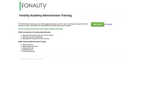 Fonality Academy Administrator Training - Online Course
