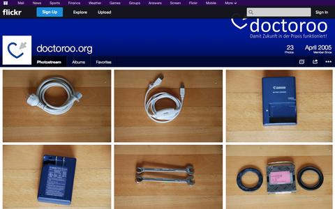Screenshot of Flickr Page flickr.com - Flickr: doctoroo.org's Photostream - captured Oct. 23, 2014