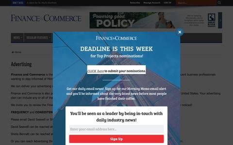 Advertising – Finance & Commerce