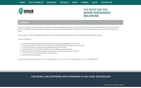 Screenshot of Jobs Page intechengineers.com.au - Careers - captured Oct. 6, 2014