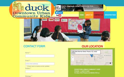 Screenshot of Contact Page duckkids.org - Contact Us - captured Oct. 12, 2017