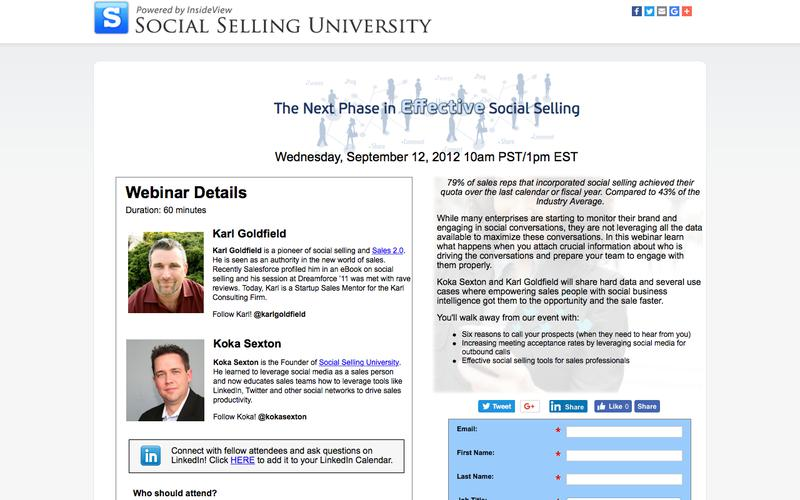 Free Webinar: The Next Phase In Effective Social Selling