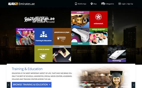 Screenshot of Home Page Jobs Page go2emirates.ae - UAE guide for property, travel, hotel, shopping, automotive and more. - go2emirates.ae - captured Sept. 23, 2014