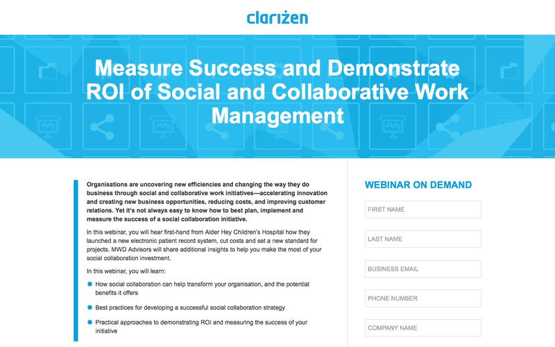 Measure Success and Demonstrate ROI of Social and Collaborative Work Management