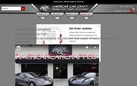 Screenshot of About Page americancarcraft.com - Custom Car Company | American Car Craft - captured July 14, 2019