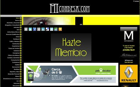 Screenshot of Home Page micondesa.com - Colonia Condesa - ¡Tu Comunidad Virtual! - Colonia Condesa es MiCondesa.com - captured Sept. 22, 2014