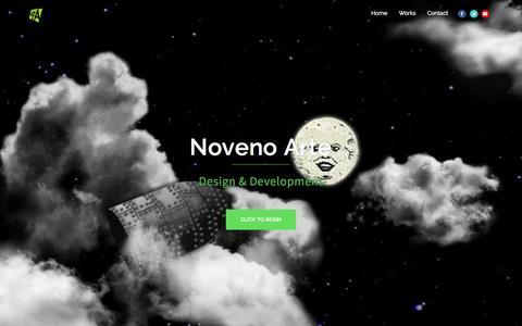 Screenshot of Home Page novenoarte.com - Noveno Arte - captured Jan. 11, 2016