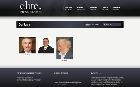 Screenshot of Team Page esuccesspartners.com - Our Team «  ELITE Success Partners - captured Oct. 2, 2014