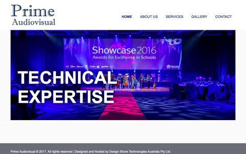 Screenshot of Home Page primeav.com.au - Home | Prime Audiovisual - captured Aug. 26, 2017