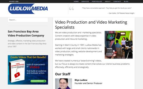 Screenshot of About Page ludlowmedia.com - Online Marketing Specialists & Video Production - captured July 23, 2018