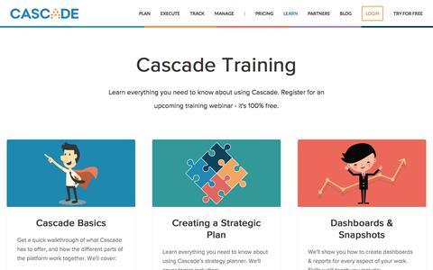 Screenshot of executestrategy.net - Cascade Training | Cascade Strategy - captured Dec. 7, 2017