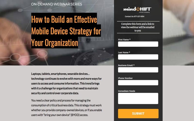 How to Build an Effective Mobile Device Strategy for Your Organization