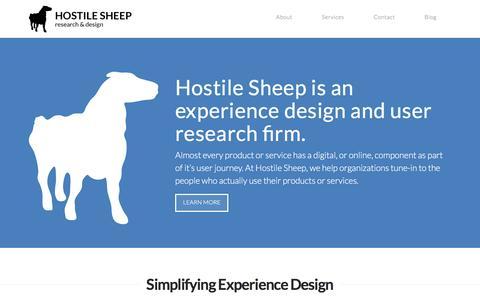 Screenshot of Home Page hostilesheep.com - Hostile Sheep   Understand - Design - Change - captured May 22, 2017