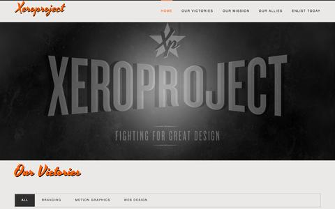 Screenshot of Home Page xeroproject.com - Xeroproject - captured Sept. 30, 2014