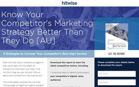 Screenshot of Landing Page connexity.com - Hitwise | 5 Cutting-Edge Competitive Insights - captured Sept. 19, 2018