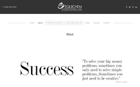 Screenshot of About Page equichem.com - About | Equichem - captured Sept. 28, 2018